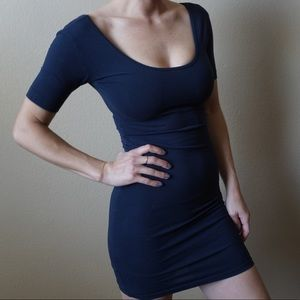 American Apparel Deep Blue Bodycon mini dress